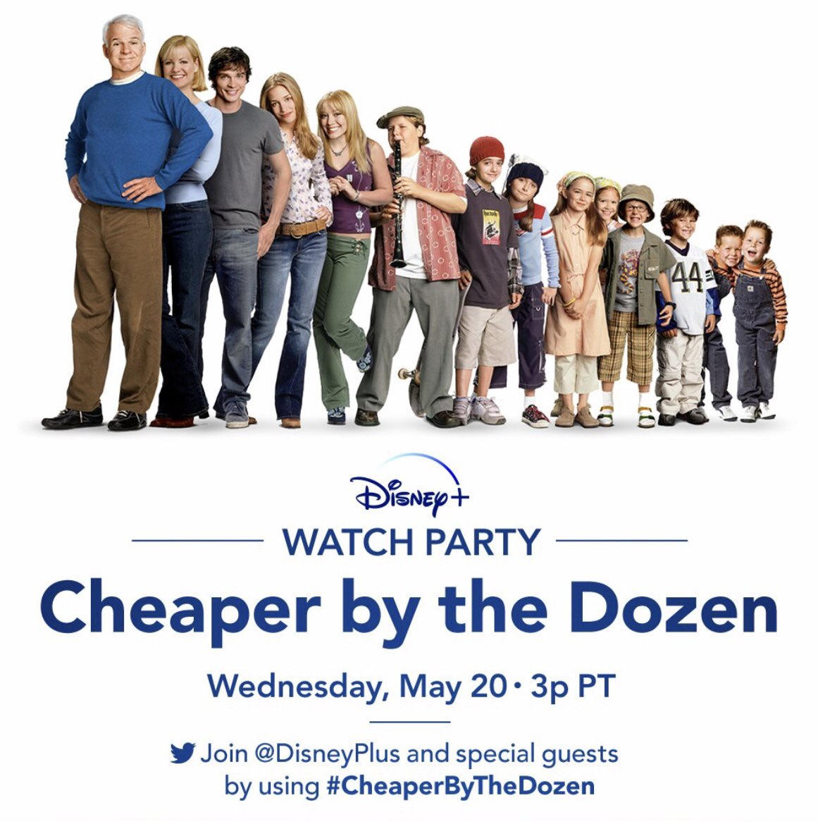 ♥️! Cheaper by the Dozen Watch Party today @disneyplus #StreamingDay join by using #cheaperbythedozen