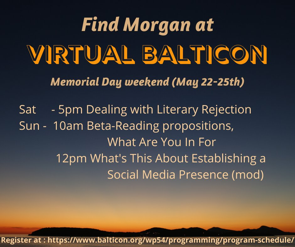 Sat 5pm Dealing with Literary Rejection Sun 10am Beta-reading propostitions, what are you in for? 12pm What's this about establishing a social media presence (mod)