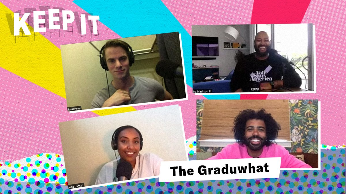 New #KeepIt: @ira @louisvirtel & @shutupaida discuss digital commencement speeches, reflect on their own graduations, & offer advice for the Class of 2020. Plus, @DaveedDiggs on starring in @SnowpiercerTV and Hamilton's impending digital release. https://t.co/FA2PgJevQI https://t.co/hXkZidmHhi