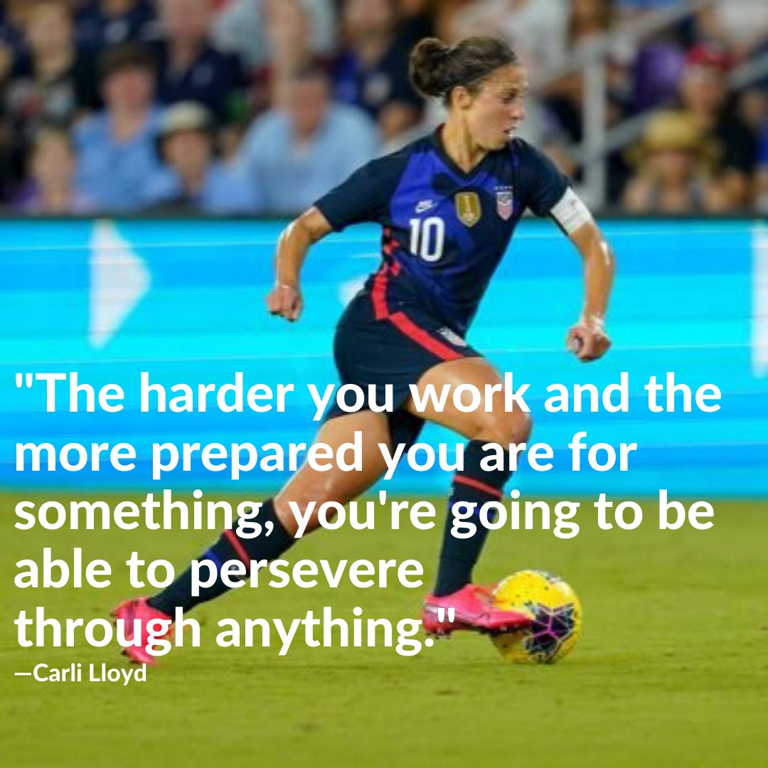 Some motivating words to help us keep up our home workouts so we are ready to return to the field the moment we can!! How do you stay motivated during #shelterinplace  . . . #WomenCrushWednesday #homeworkouts #soccerlife #soccergirl #wcw #womentowatch  @carlillyod https://t.co/JTBG7ofCPz