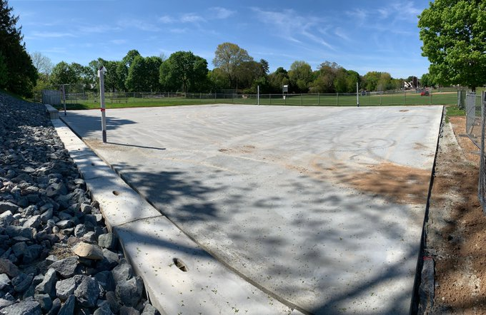 New basketball/street hockey courts at Fletcher Field