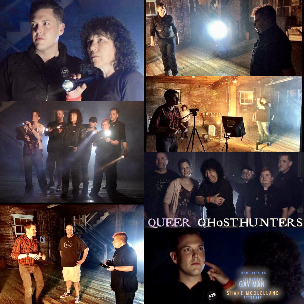 4 years ago we were knee-deep in a weird idea - create a paranormal series that would focus on LGBTQ history and entities. It would lead us on amazing adventures and create the awarding winning show Queer Ghost Hunters. Below are some stills from the promo shoot. 🏳️🌈 👻