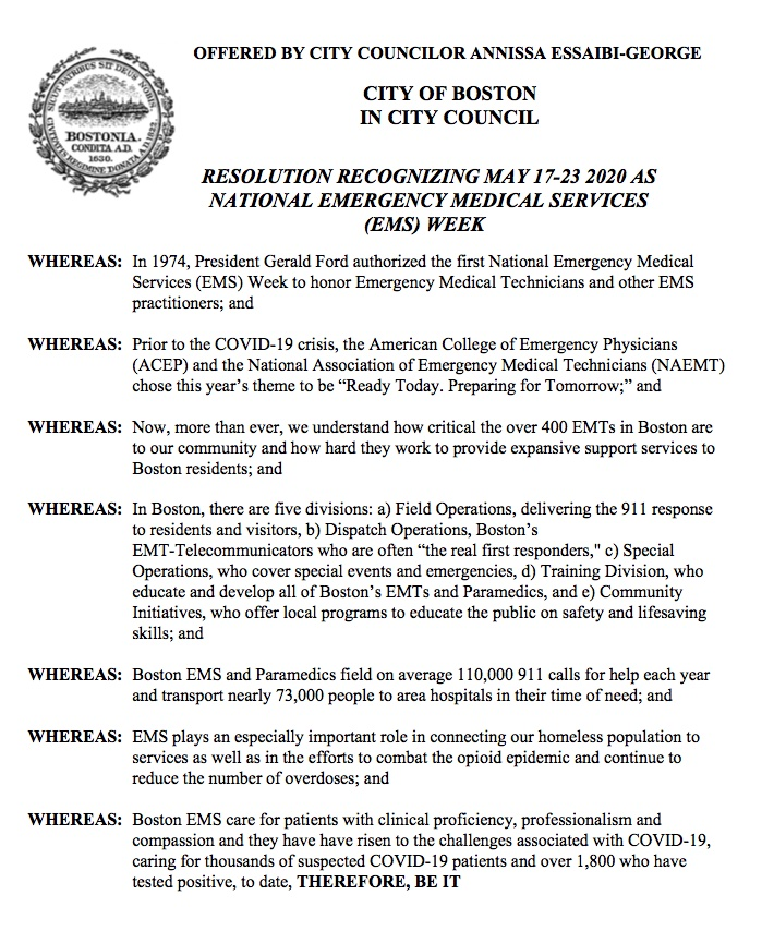 At today's @BOSCityCouncil meeting, I'm introducing  ✅Resolution Recognizing #NationalEMSWeek ✅Hearing on a Small Business Reopening Task Force ✅Resolution to Create a #COVID19 Helpline for Consumers & Workers  Tune in at 12! https://t.co/wbpjggeqUz #shopsmall #bospoli #mapoli https://t.co/Wo0ssq8xUh