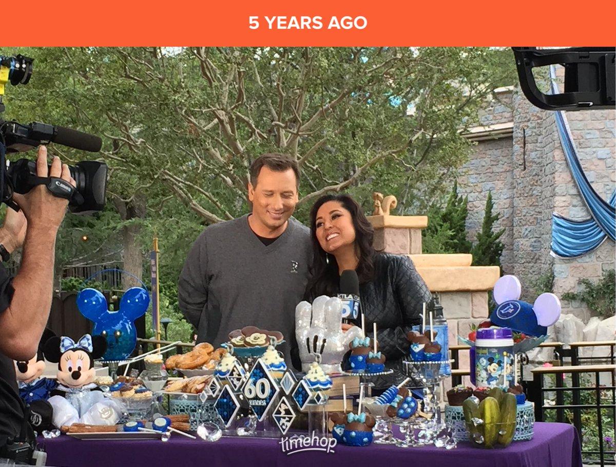 5yrs ago, I watched @LynetteRomero cover Disneyland's 60th Anniversary Celebration. I miss Disneyland and @chrisburrous. 😢 https://t.co/VNC0EP7rRU