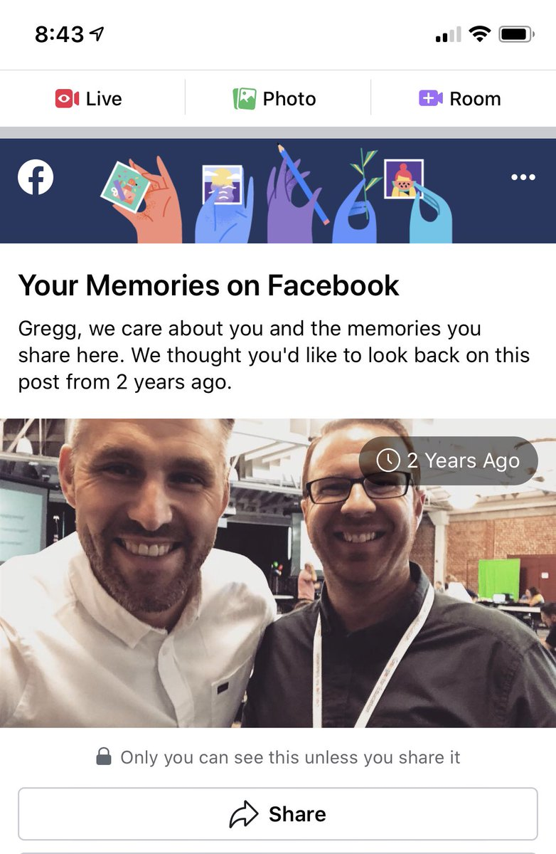 That one time when @trev_mackenzie and I were RVCA twins at an #edtechteam event.