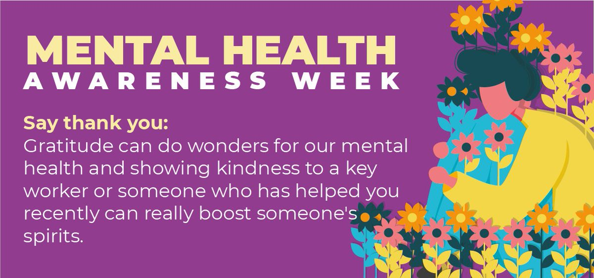 """Tip three from #kooth for #MentalHealthAwarenessWeek is all about saying a great big #ThankYou. Gratitude and being grateful for the good in our lives can show us that """"happiness can be found in the darkest of times"""". (Thanks Dumbledore 🧙♂️) https://t.co/Ilombh4q3m"""