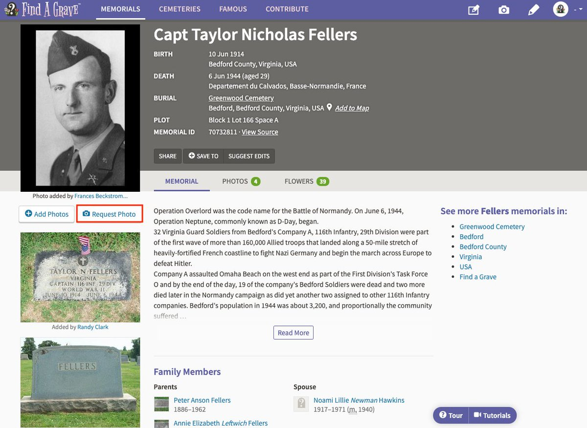 This Memorial Day, you may be commemorating in different ways. We are honoring those who have fallen in our virtual Parade of Heroes. However, if you're not able to visit the grave of someone in your family, you may be able to visit their grave virtually: