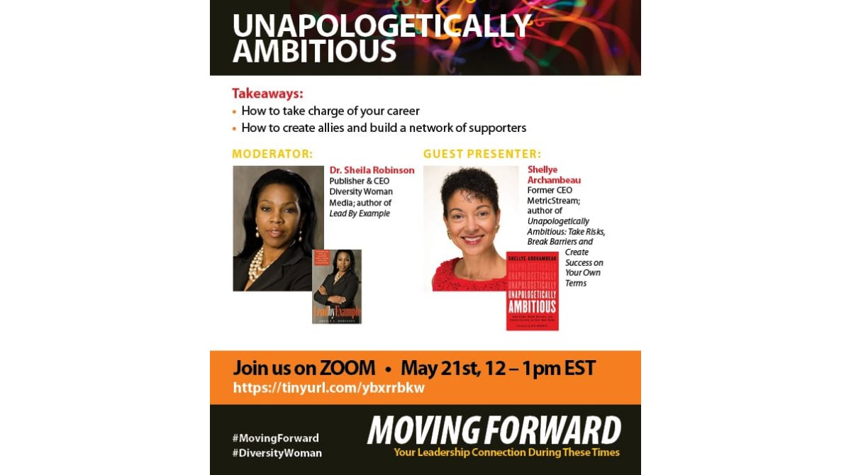 Join me & @DrSheila for a chat on 'How to take charge of your career' on zoom, tomorrow at 12pm EST.  Here's the link to register - https://t.co/hyEks3paWl  #diversitywoman #movingforward #womeninbusiness  #unapologeticallyshellye #unapologeticallyambitious https://t.co/PwzaS5d2PT