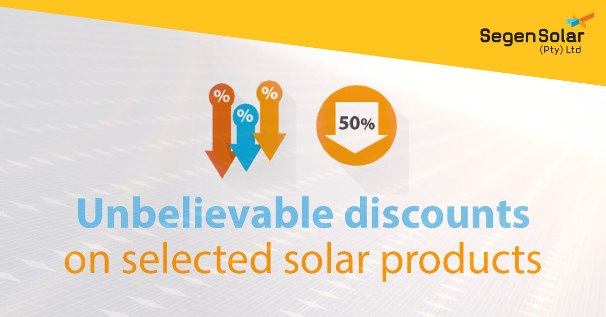 Find your favourite #Solar equipment at a fantastic discount on the SegenSolar customer portal. One the products are gone, they're gone! Sign up to find out more… https://bit.ly/30MrfDa    #BargainHunting pic.twitter.com/fG2WsbPfoh