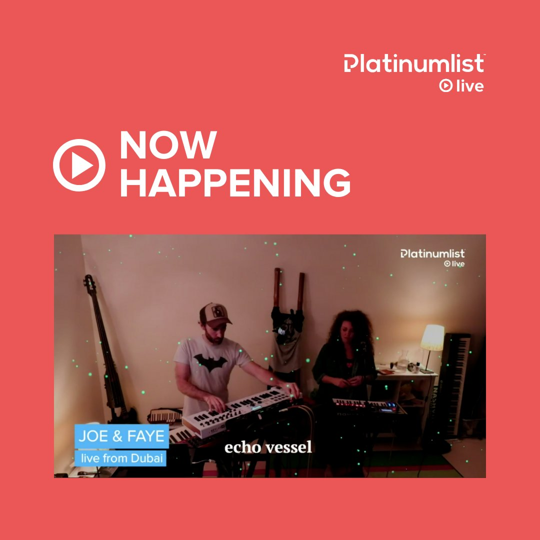 Oh! You won't want to miss this, @echovessel are gems! ✨ Tune in live: platinumlist.net/live
