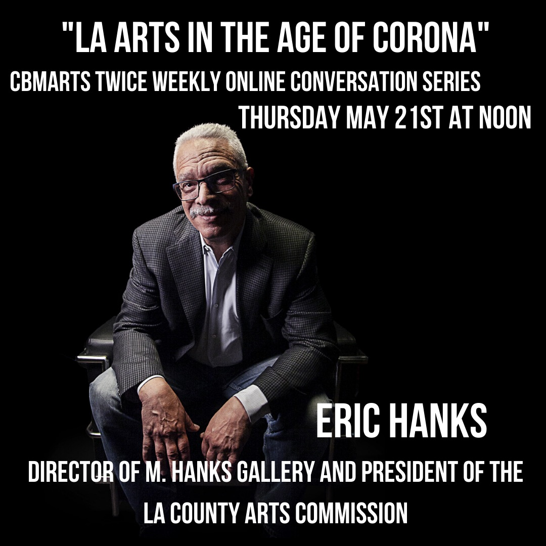 Tomorrow, 5/21 at noon PDT, Eric Hanks, Founder of M Hanks Gallery and current LA County Arts Commission President joins us in conversation. Will you be there? Register: https://admissions.cgu.edu/register/?id=58ac84f5-aca4-4778-8c43-a1b7ae7f5088… #artsleaders #artinla #artsmanagement #artbusiness #highered #cgupic.twitter.com/sAc4ERS32N