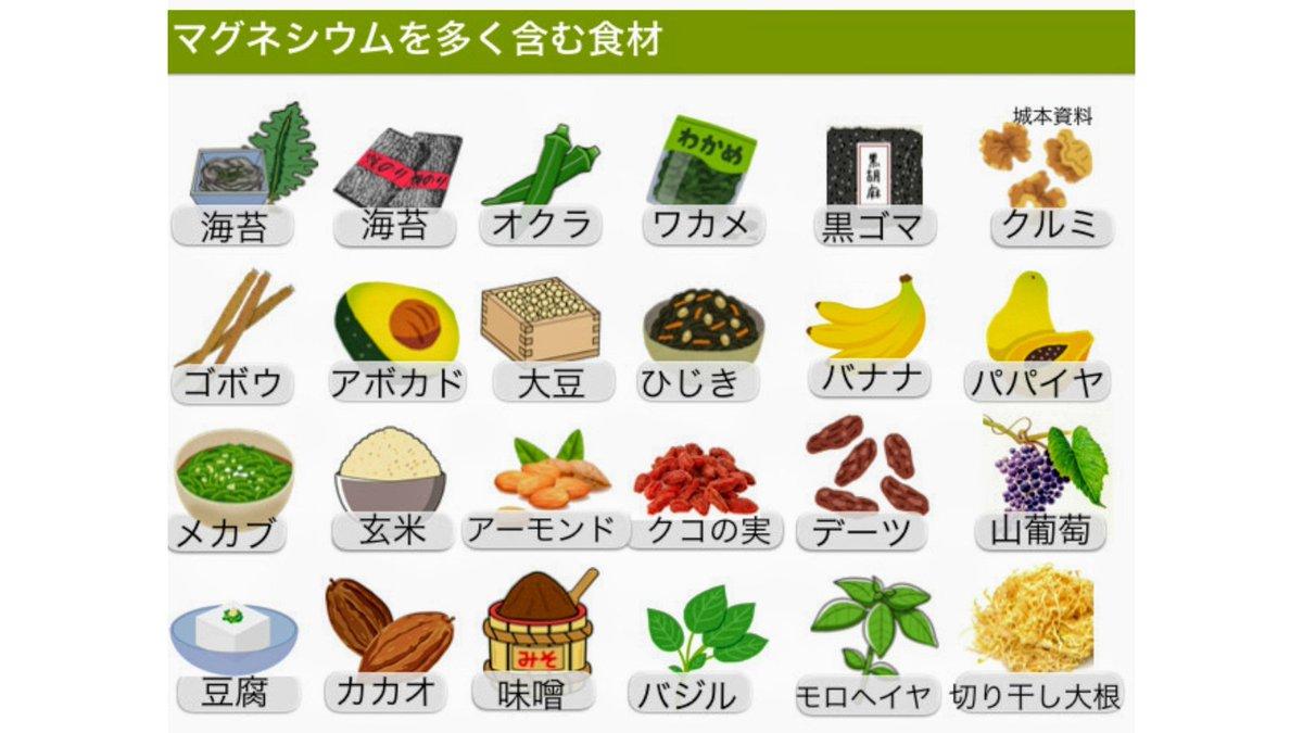 食品 マグネシウム