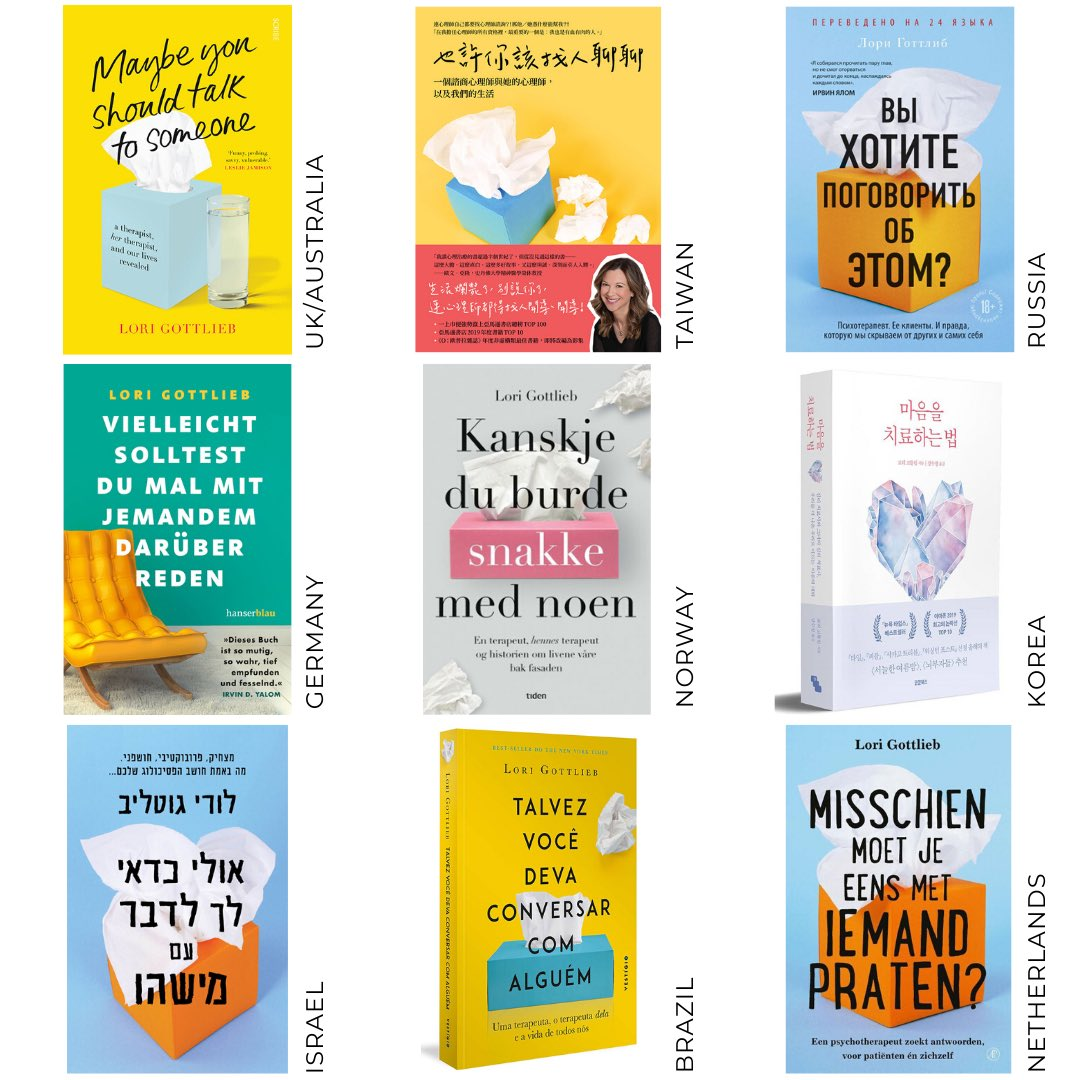 #MaybeYouShouldTalkToSomeone is being read around the world, hitting bestseller lists and opening up the important conversations we need to have with ourselves and others.   For #MentalHealthAwarenessMonth here are a few gorgeous jackets from 30+ territories where it's available