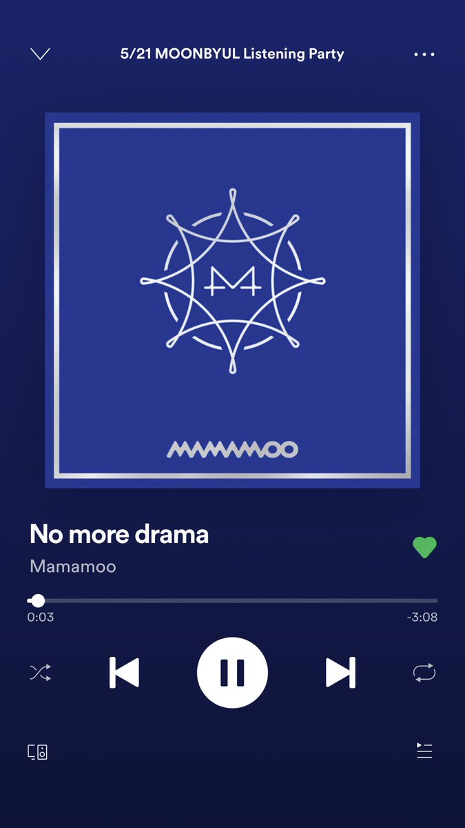 NO MORE DRAMA!!!!!! One, two, three, four, day by day/ From the morning until evening, every day/ Always the same talk, all day long #521MOONBYULPARTY #MAMAMOO #NOMOREDRAMA @RBW_MAMAMOO<br>http://pic.twitter.com/VDonG58DIv