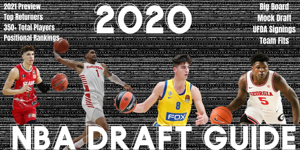 My 2020 NBA Draft Guide is updated & available for purchase 🏀  One of the most comprehensive databases you'll find covering the draft.   It's only $5 to gain access— DM me for details 📩 https://t.co/2ovCjX5wVv