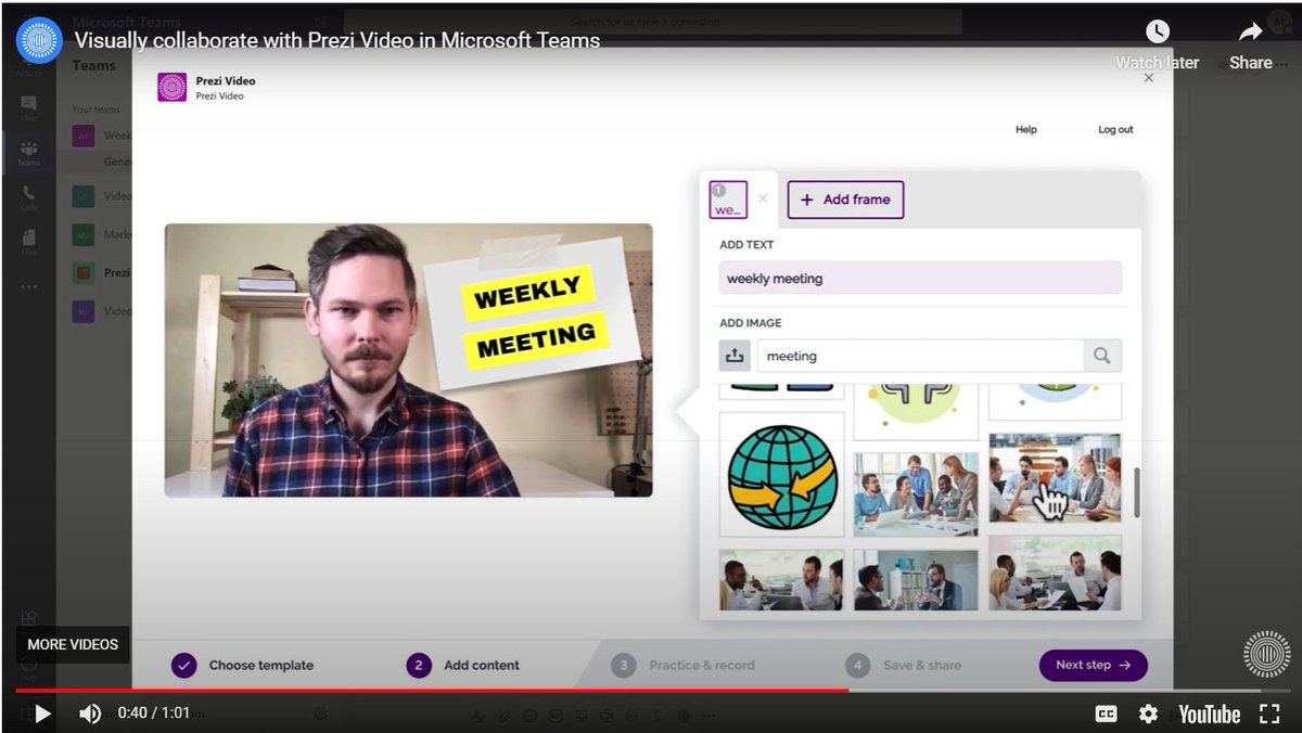 NEW! Prezi Video in #MicrosoftTeams brings fun and engaging online learning experiences to your classroom   👉 https://t.co/OPn0WBwx5j  #MIEExpert #edtech #MicrosoftEDU https://t.co/u7AIDFfxbi