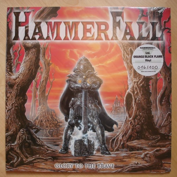 Metalalbum of the Day: Hammerfall  - Glory to the Brave - lim. 100 Flame Vinyl LP - 1997 / 2010 #Hammerfall #Heavymetal #Metal #Truemetal #Vinyl #Metalvinyl #Metalcollection #Hammerhigh #90s @HammerFall @OscarDronjakpic.twitter.com/9JmSLF7qRI