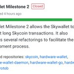 Image for the Tweet beginning: Progress never stops at #Skycoin!  Our