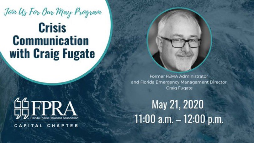 It's tomorrow! Still time to sign up to hear from the wonderful @WCraigFugate! fpra-capital.org/event/may2020c…