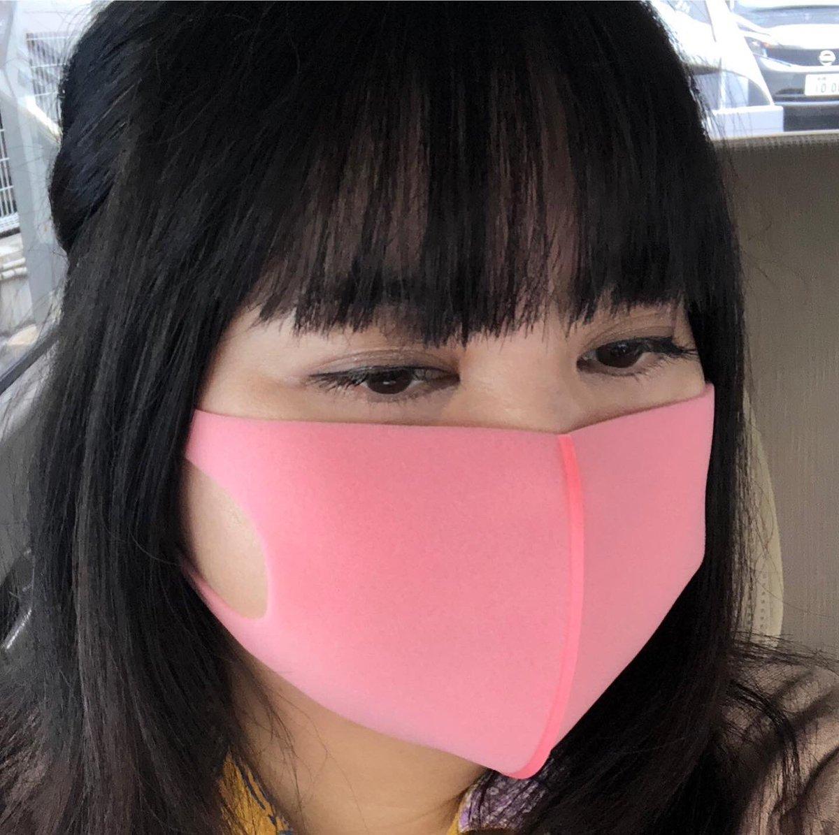 上下 黒 マスク