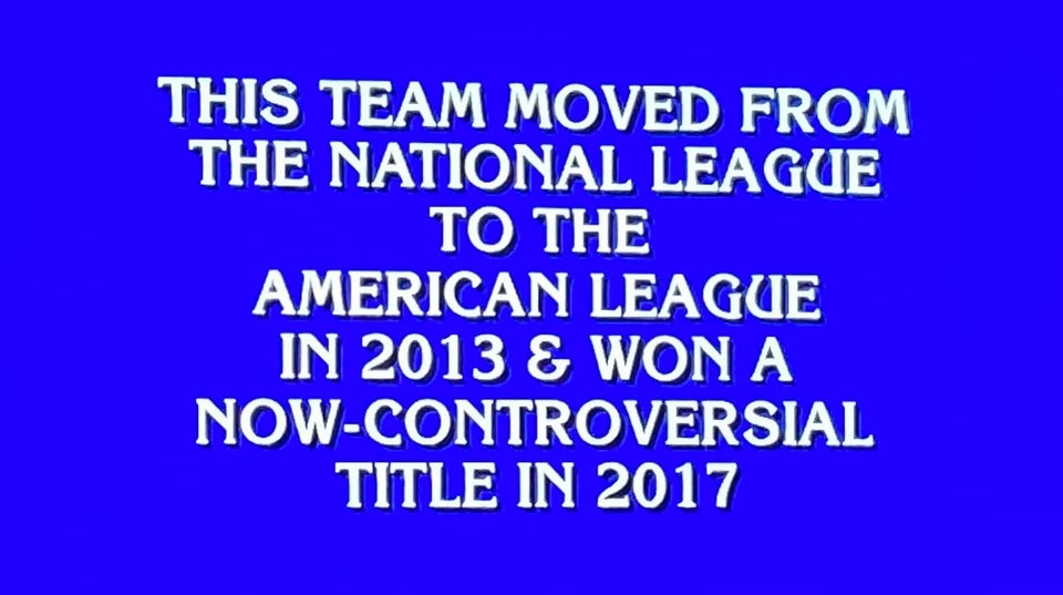 "Jeopardy just roasted the Astros 👏  ""Now-Controversial"" = Trebekian for ""horseshit"" https://t.co/ypl9IQCE8F"