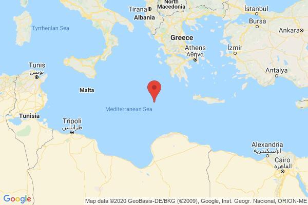 Ισχυρός σεισμός 6,2 Ρίχτερ νοτιοδυτικα της Κρήτης