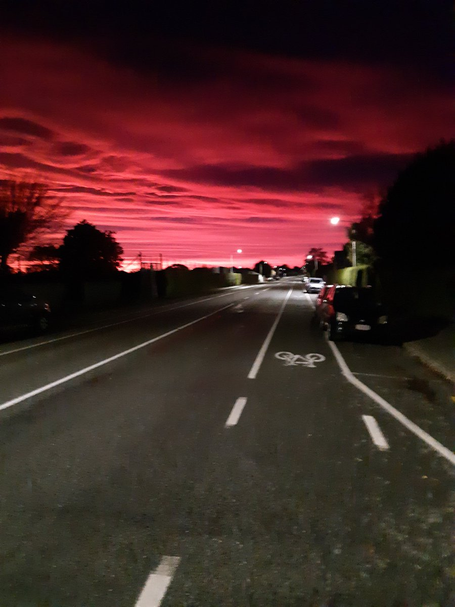 Red sky in the morning. . . .
