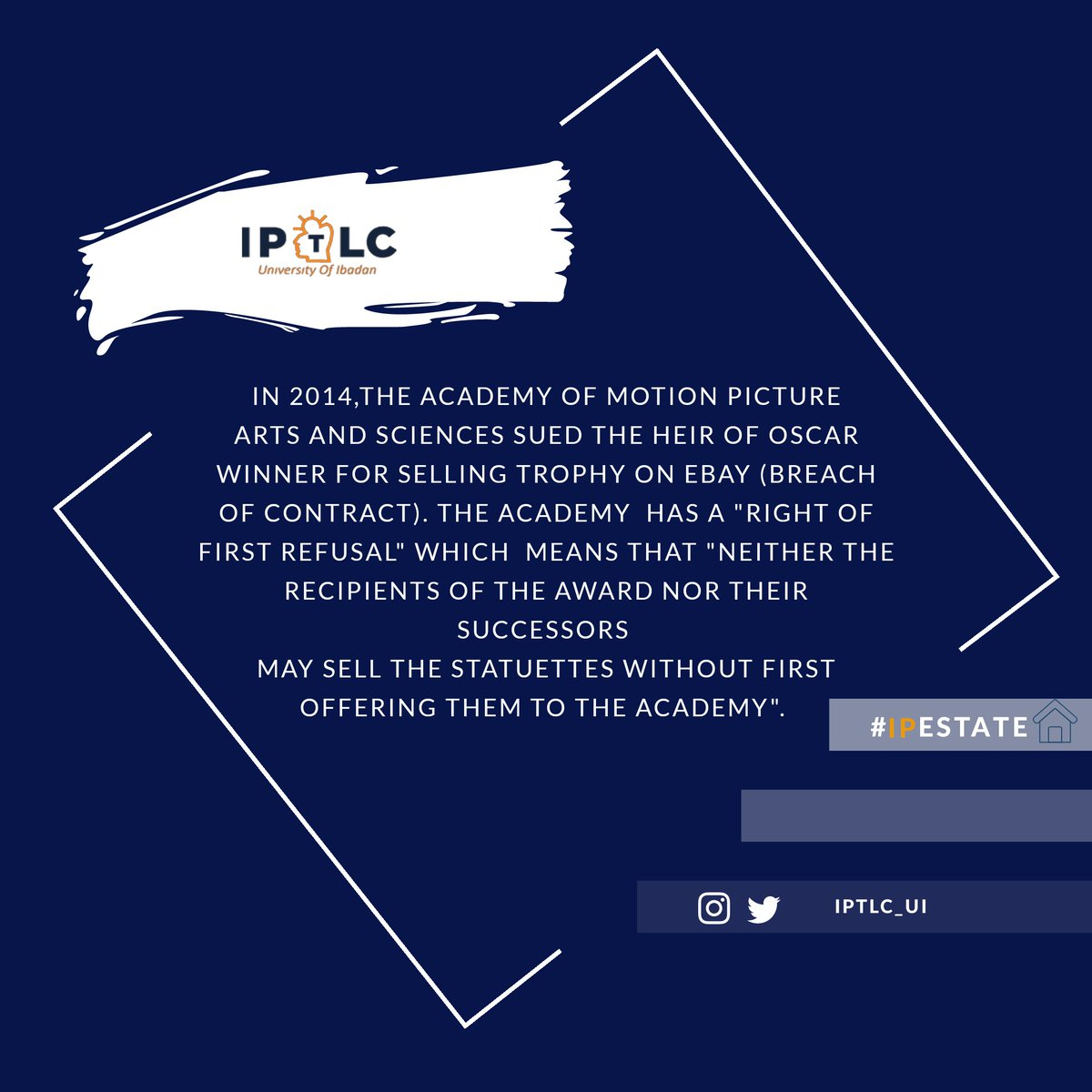 Another episode of our IP Estate Series   #IPestate #intellectualproperty #Oscars pic.twitter.com/PVD8K97fkN