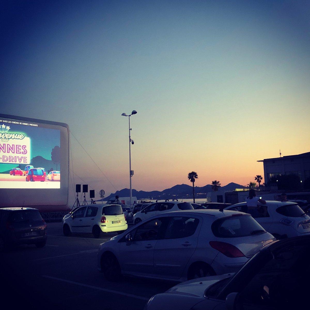 Cannes ciné drive, première, 🎬 #CannesNow