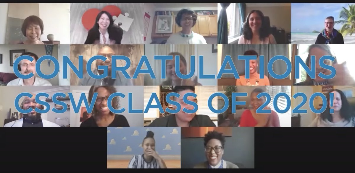 Faculty & Staff at #CSSW offer congratulations to the Class of 2020 #CSSW2020 youtube.com/watch?time_con…