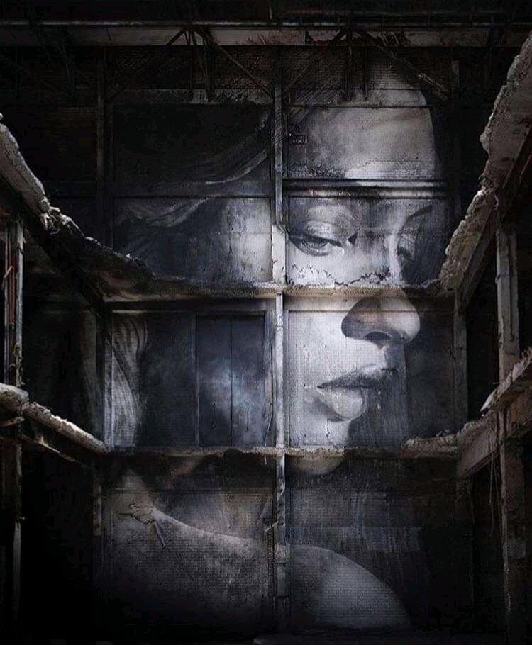 """That was the place, you were the person..."" Art by Rose #streetart #art #graffiti #mural #urbanart #Beauty #woman #blackandwhitepic.twitter.com/5aY8d8Y5MU"