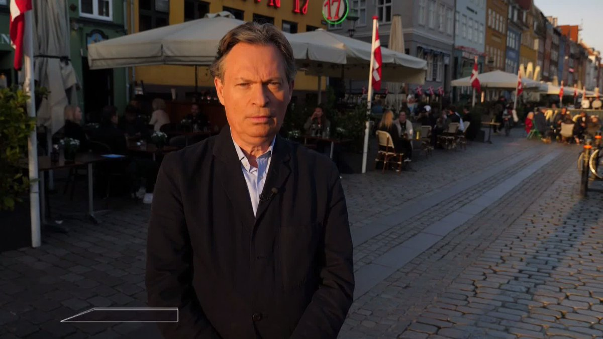 """""""I feel as if I've landed upon a completely different planet."""" Our Foreign Affairs Correspondent, Jonathan Rugman @jrug says the bars and the restaurants in Copenhagen are open and busy."""