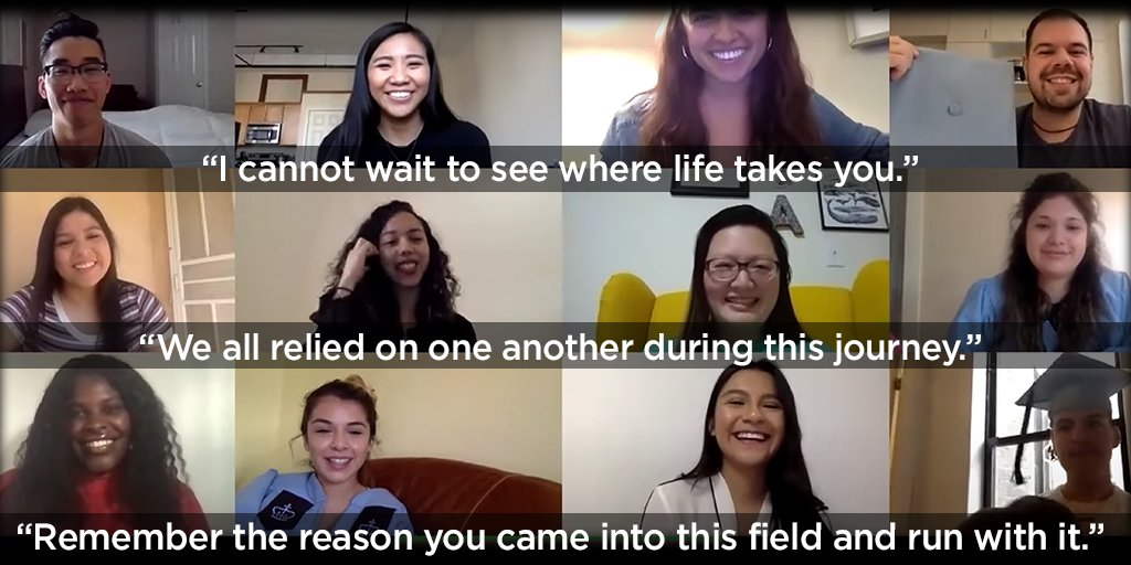 #CSSW2020 graduates share words of thanks and congratulations with their peers: youtube.com/watch?v=bEUjct…