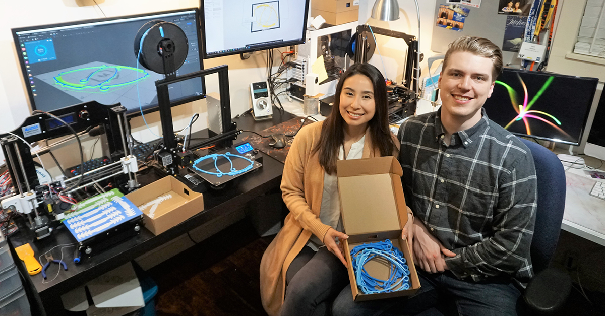British Columbia Institute Of Technology Bcit On Twitter Bcit Mechanical Engineering Alumnus Jamie And Interior Design Alumna Keisha Have Been Creating 3d Printed Ear Savers And Face Shields For Healthcare Works Read