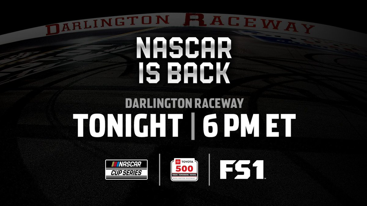 Its raceday!!! 😎 The #Toyota500 @TooToughToTame is TONIGHT on FS1 starting at 5:00 CT!