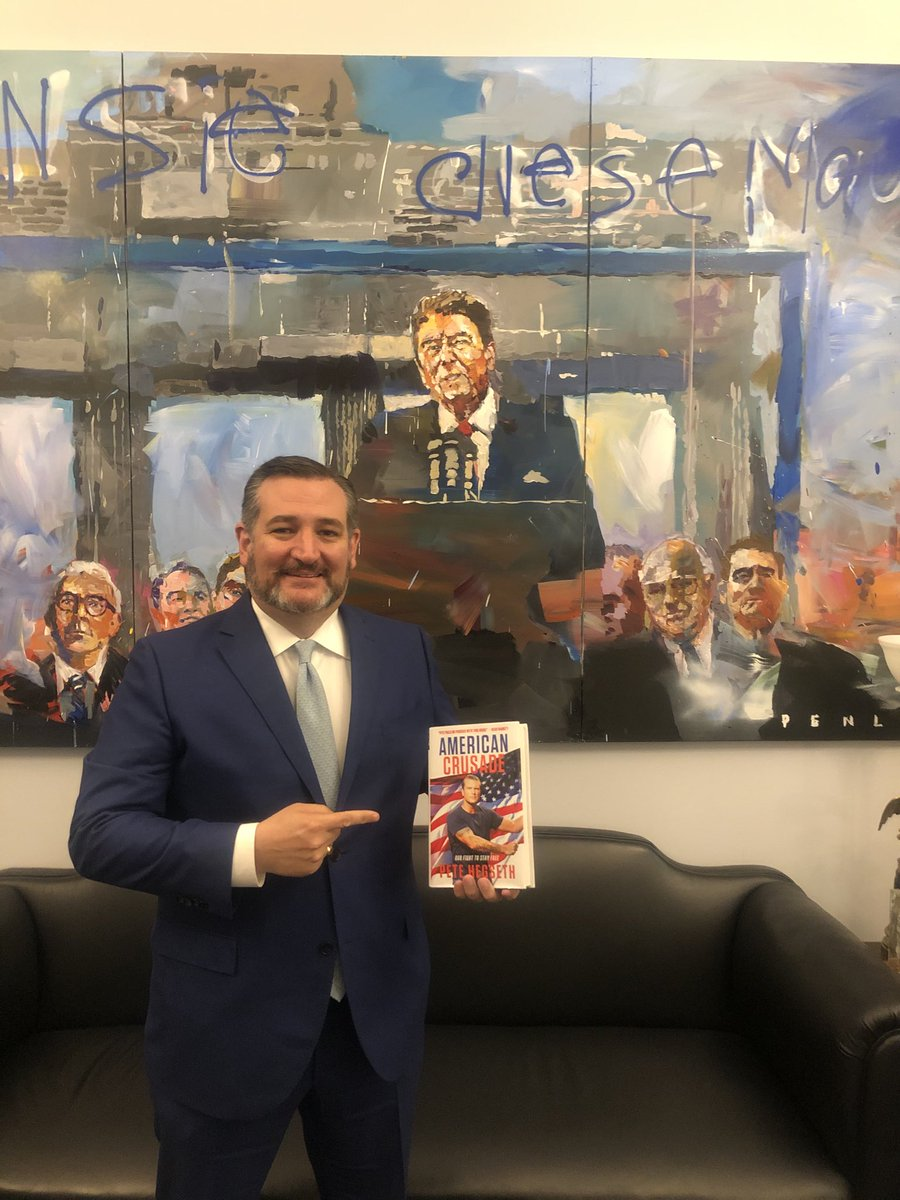 Just got my copy of my friend ⁦@PeteHegseth⁩ new book American Crusade. Great read!