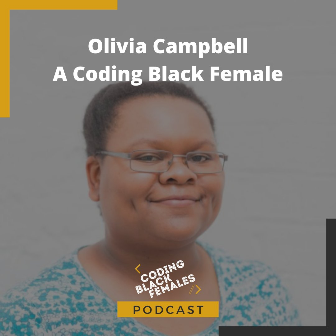 Check out our most recent podcast, featuring @oecampbell sharing her journey as a Coding Black Female and how she's been staying busy during lockdown!  Definitely worth a listen if you want to be inspired!  Find it at https://t.co/nNQtIaCgSZ  #womenintech #BlackTechTwitter https://t.co/ZpmLYIj0Wy