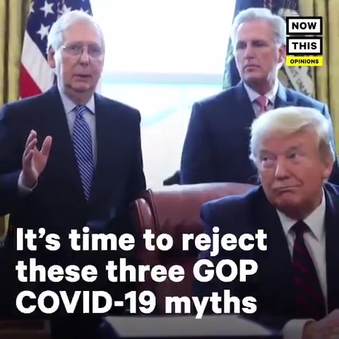 As we surpass 100K deaths, Dont let Trump escape his failures that got us here The 3 GOP myths on #COVID19 that we must condemn #100KDeaths