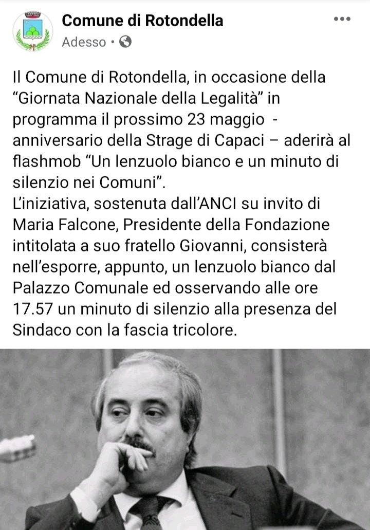 #23maggio #stragedicapaci @comuni_anci #Rotondella...