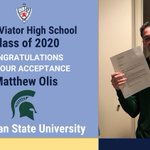 Image for the Tweet beginning: Congratulations to Matthew Olis '20