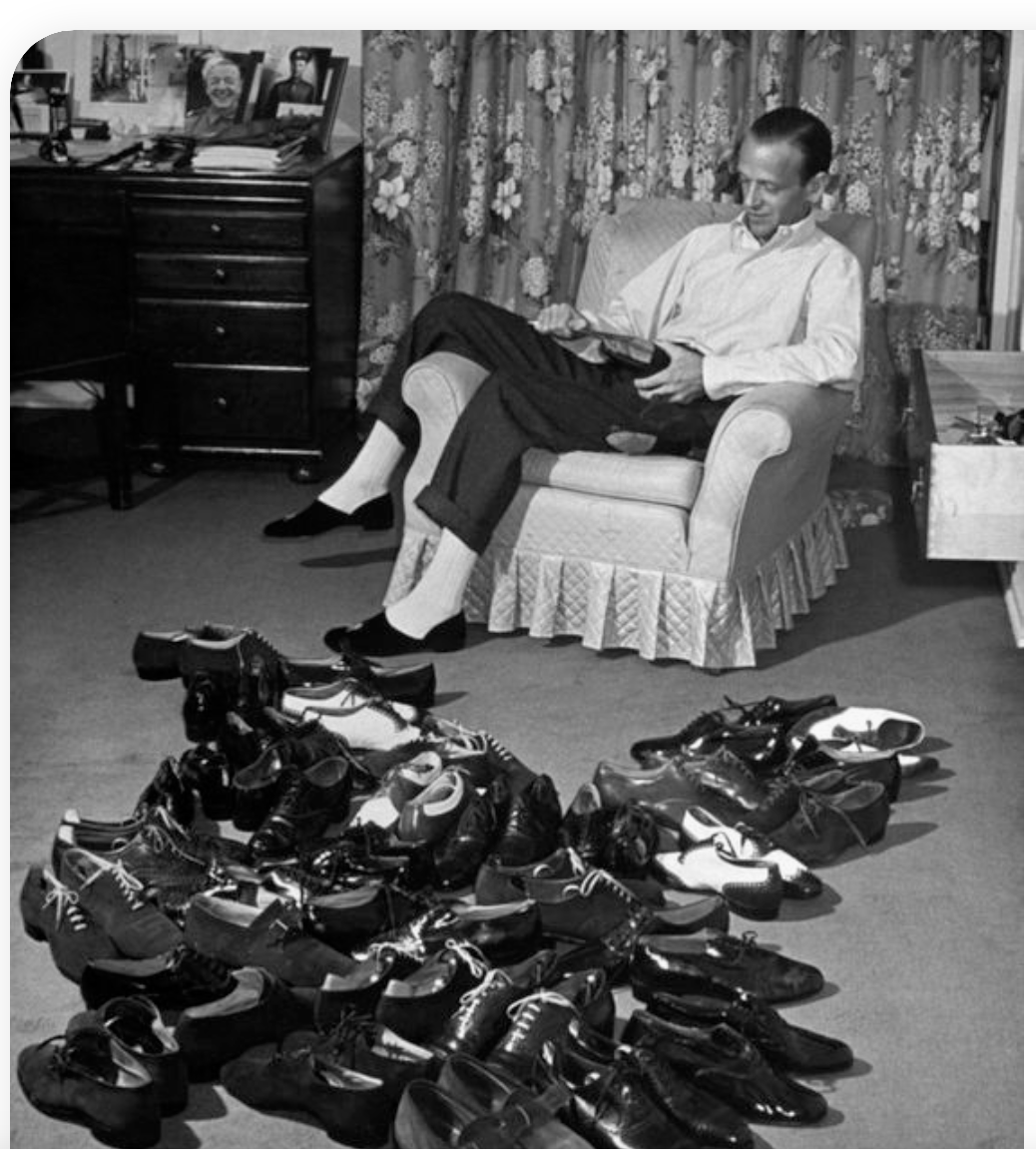Fred Astaire and his shoes. https://t.co/8YV6mW6WfS