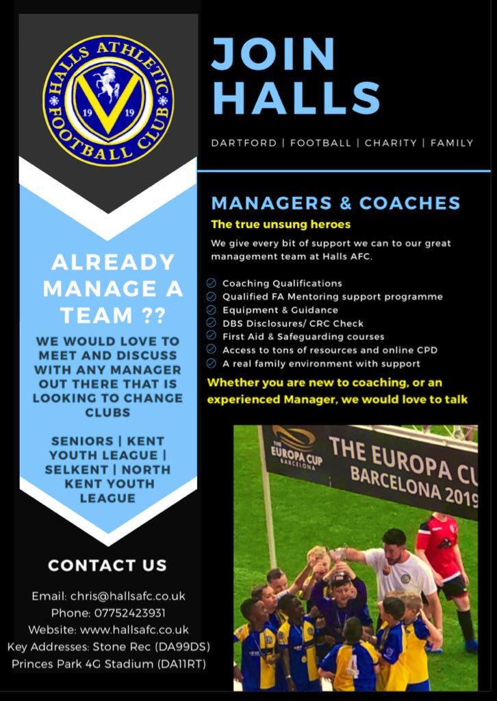 test Twitter Media - Coaches, Managers, wannabes... get in touch with Halls today 💙 chris@hallsafc.co.uk #AwardWinningCulture https://t.co/Rgao2ZnLm8
