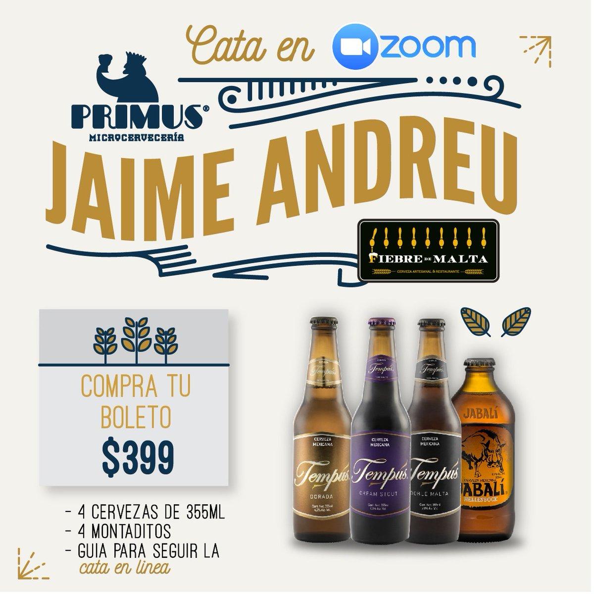 ¡Los extrañamos Fiebreceros! @PrimusJaime nos acompañara en una deliciosa degustacion virtual de montaditos y cervezas de @PrimusCervecera   Ordena tu boleto para obtener tú kit INBOX y pasemos un buen rato brindando Nosotros te cuidamos.#QuédateEnCasa  #CataVirtual pic.twitter.com/RbuMgDeLJd