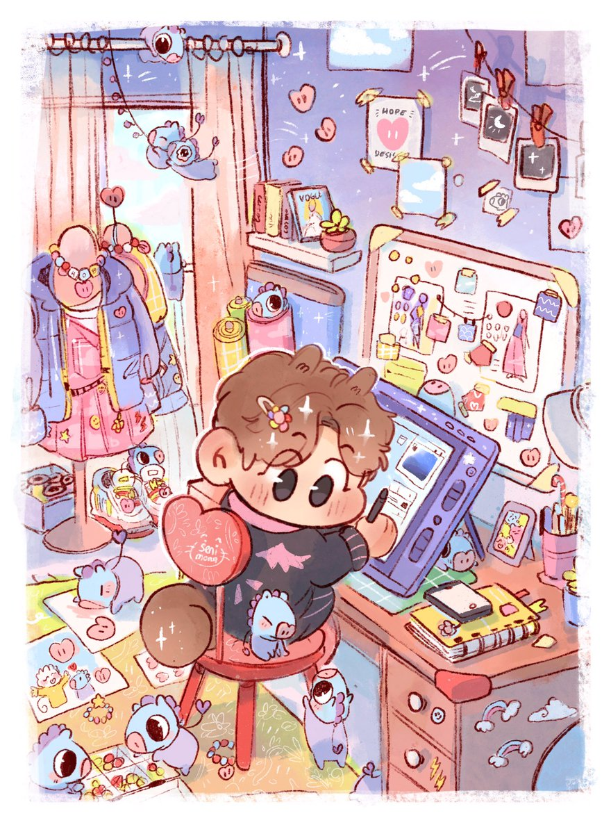 Design student Hobi and his tiny friends who are always ready to help model his new designs  #btsfanart <br>http://pic.twitter.com/3da7DNsdHf