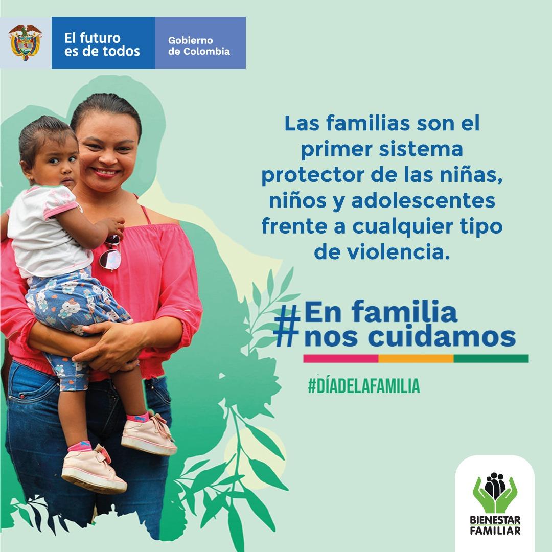 La Asamblea General de @ONU_es  promulgó el 15 de mayo como el #DíaInternacionalDeLaFamilia y nuestro país acogió este mandato a través de la Ley de Protección Integral a la Familia. @ICBFColombia se suma a la celebración del #DíaNacionalDeLaFamilia. https://t.co/TwrYNI8rnU