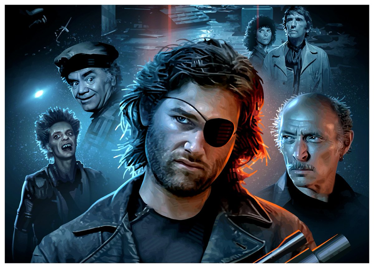 ESCAPE FROM NEW YORK (1981) by John Carpenter #scifi #Artwork by Brian Taylor @CandykillerNewspic.twitter.com/TrlPRCE9iv