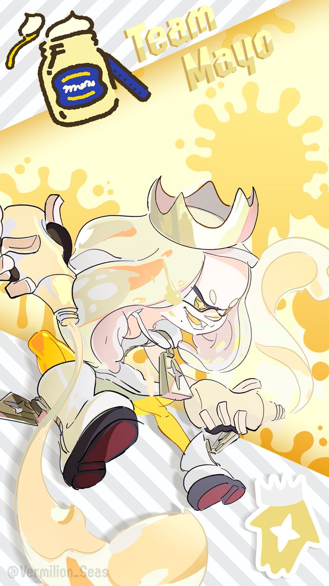 Replying to @Vermilion_Seas: Splatoon 2 SplatFest Wallpapers for Mayo Vs. Ketchup   Free to use, no credit needed!