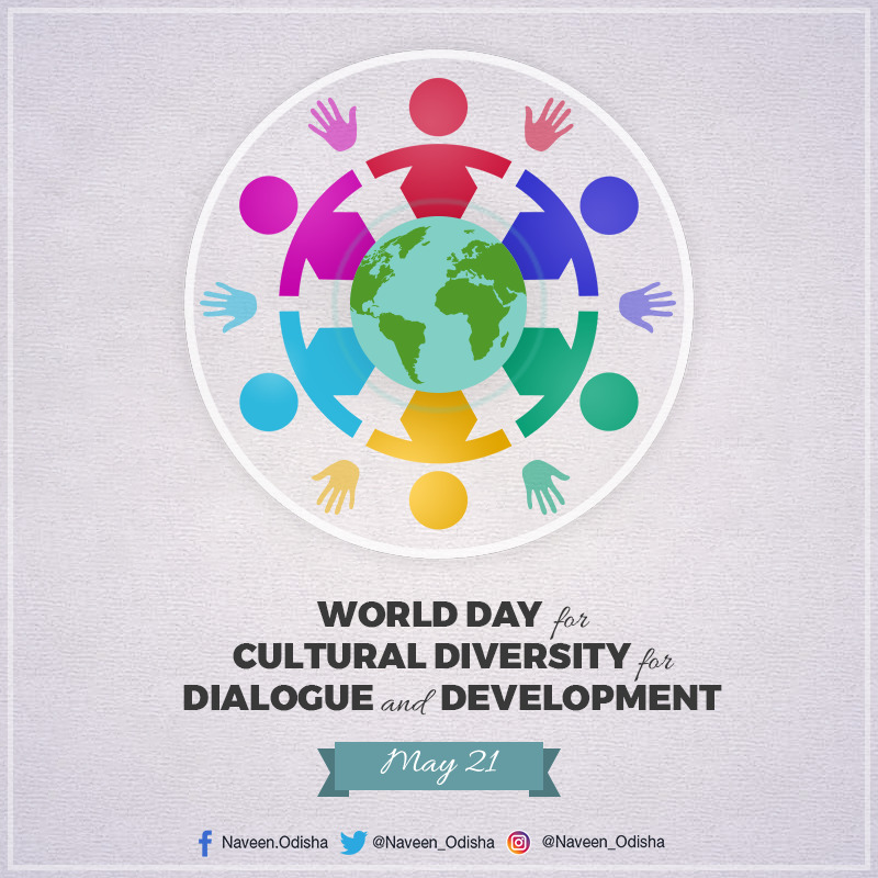 On World Day for #CulturalDiversity for Dialogue and Development, let us recognize, accept and celebrate the diverse cultures and traditions in society to make them our collective strength to build a cohesive world. https://t.co/R9ScpFFPTY