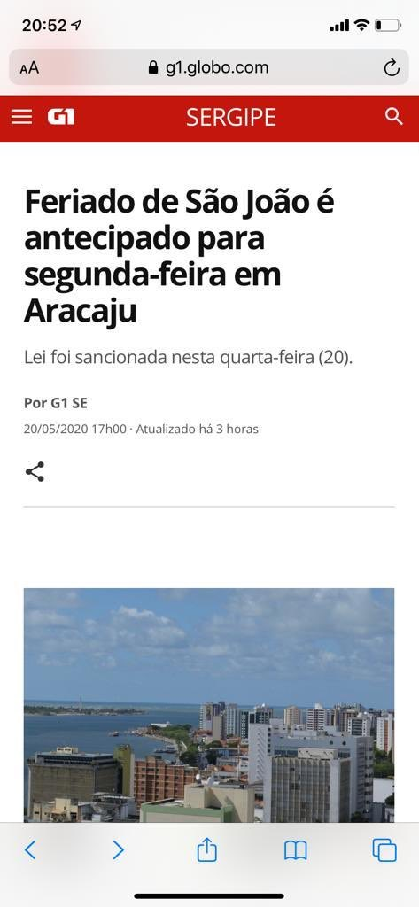 Ae galera segunda feira já é São João kkk preparem as fogueiras #Aracaju #sergipe #saoJoaopic.twitter.com/X7aoEFgxnX