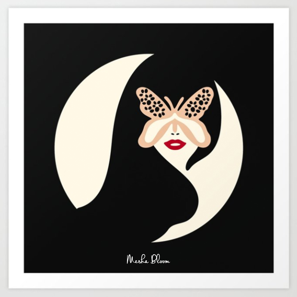Lady Butterfly 6  Art Print • #modern #retro #woman #beauty #fashion #illustration #butterfly #art #artwork #artprints #wallart #ladybutterflies • #meshabloomartpic.twitter.com/54kKZtmkfM